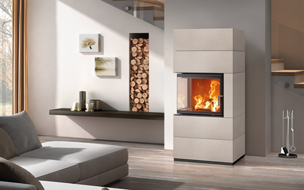 ceramic design wood-burning stove Sintesi