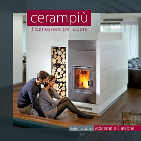 Modern and classic tiled wood burning stoves