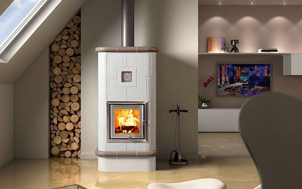 italian ceramic wood burning stove La Stubetta