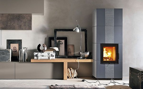 italian ceramic wood burning stove Sintesi