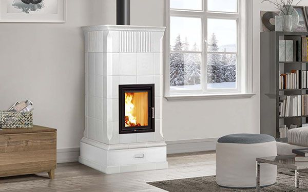 italian ceramic wood burning stove Armonia