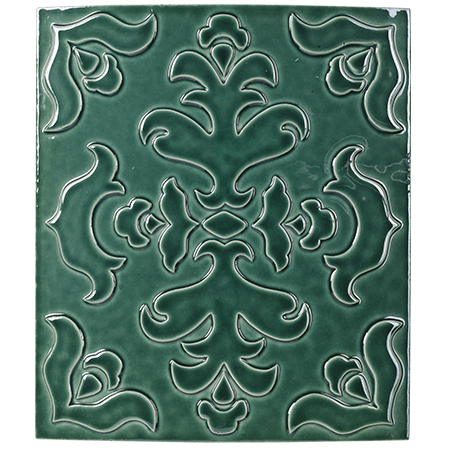 green decorative tile