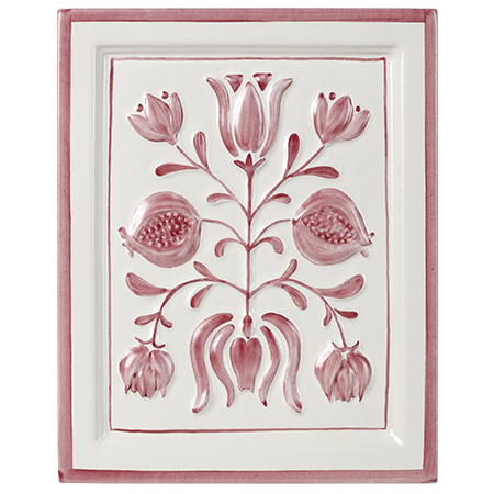 pink flowers decorative tile