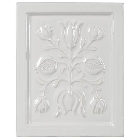white flowers decorative tile