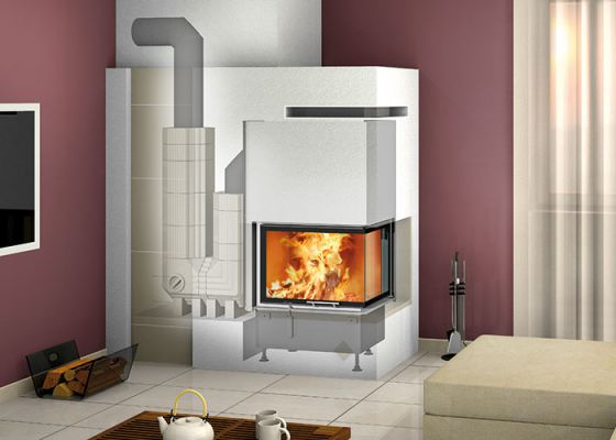 heat-accumulation fireplace with Durasic®