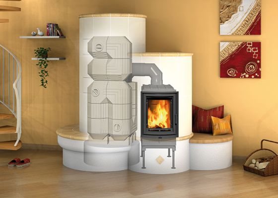high efficiency wood burning stove with insert and Durasic®