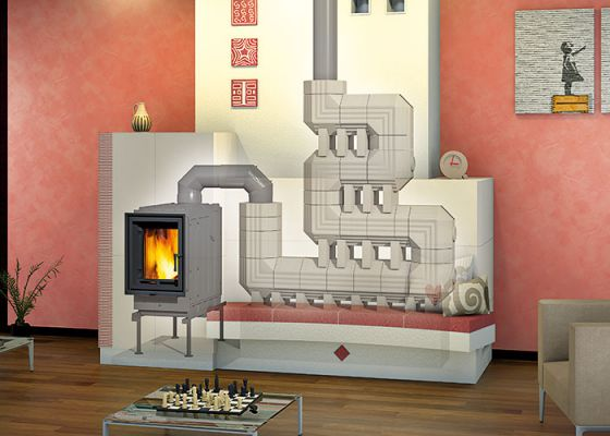 heat-accumulation stove with insert and Durasic®