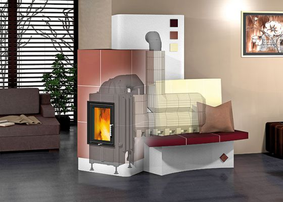 high efficiency wood burning stove with insert and Durasic® flue gas system