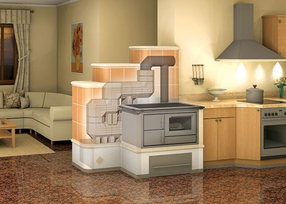 kitchen stoves with Durasic® flue gas system