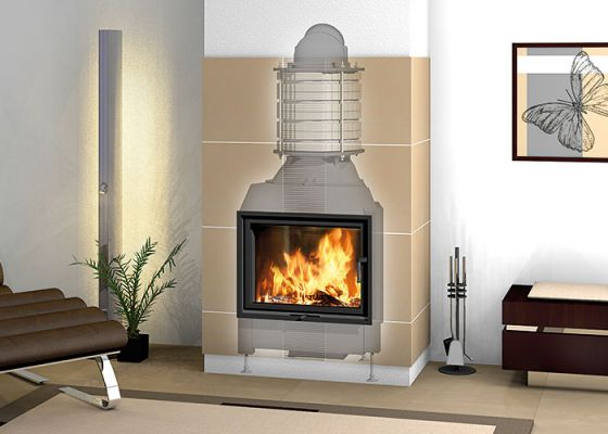 heat accumulation fireplace with Durasic® rings
