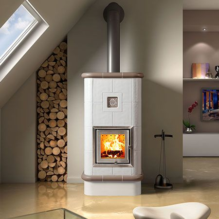 efficient wood burning stove La Stubetta