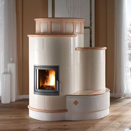 efficient wood burning tiled stoves